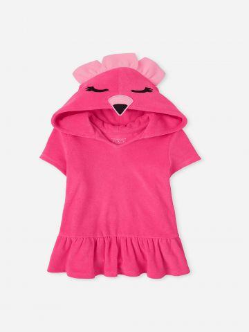 שמלת מגבת עם קפוצ'ון פלמינגו / 9M-4Y של THE CHILDREN'S PLACE