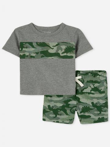סט חולצה ומכנסיים קצרים קמופלאז / 9M-4Y של THE CHILDREN'S PLACE