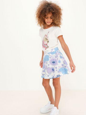 חצאית בהדפס פרחים של THE CHILDREN'S PLACE
