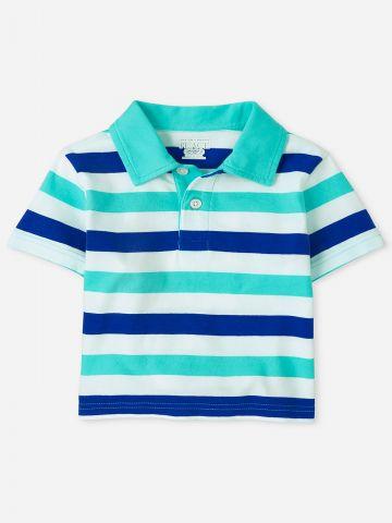 חולצת פולו בהדפס פסים / 6M-4Y של THE CHILDREN'S PLACE