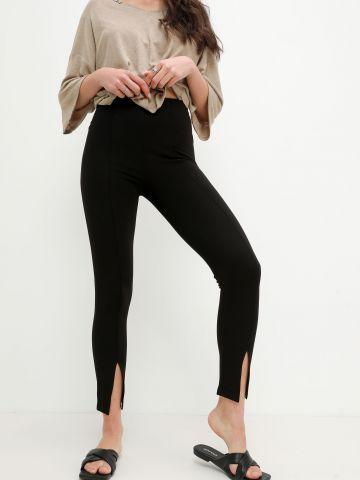 מכנסיים ארוכים עם תפרים בולטים של YANGA