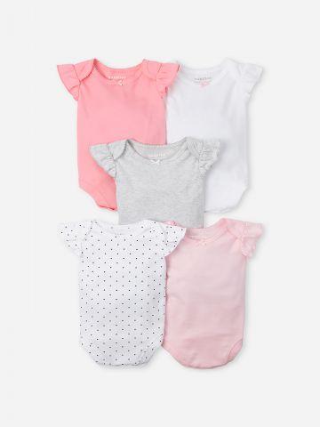 מארז 5 בגדי גוף בהדפסים שונים / 0M-2Y של THE CHILDREN'S PLACE