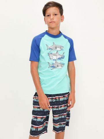 מכנסי בגד ים מולטי קולור של THE CHILDREN'S PLACE
