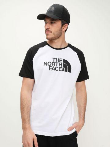 טי שירט מלאנז' עם הדפס לוגו של THE NORTH FACE