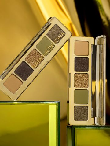 פלטת צלליות בעלת 5 גוונים בגודל מיני Mini gold palette של NATASHA DENONA