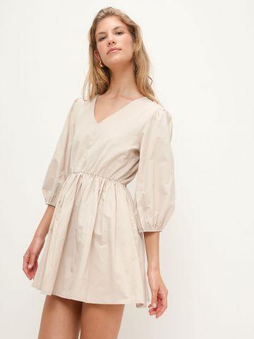 שמלת מיני מתרחבת שרוולים נפוחים של YANGA