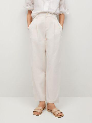 מכנסיים ארוכים בגזרה ישרה של MANGO
