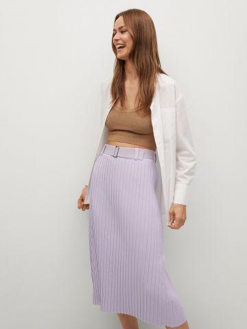 חצאית פליסיה עם חגורת מותן של MANGO