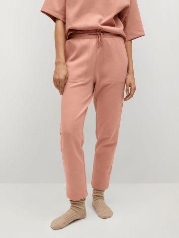 מכנסים אורגניים מכותנה של MANGO