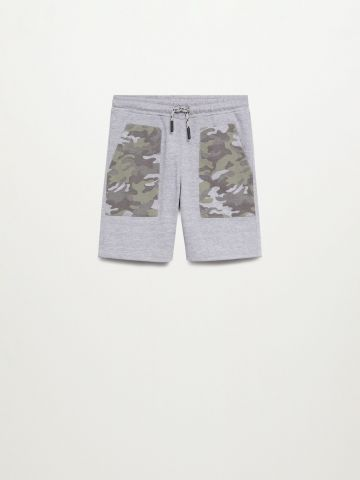 מכנסי טרנינג עם פאנלים קמופלאז' / בנים של MANGO