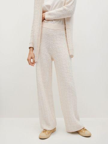 מכנסיים ארוכים בסגנון טוויד של MANGO