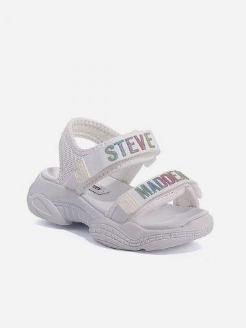 סנדלים עם רצועות סקוץ' בשילוב לוגו / בנות של STEVE MADDEN