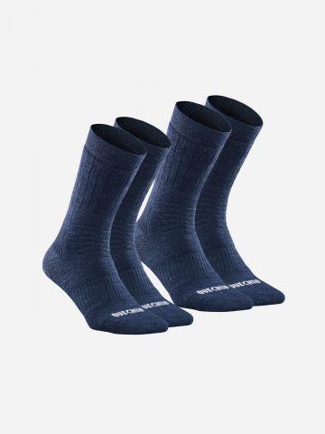 גרבי טיולים חמים בגובה אמצע דגם SH100 X-WARM / נשים של DECATHLON