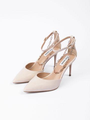 נעלי עקב דמוי עור בשילוב רצועת שרשרת / נשים של STEVE MADDEN
