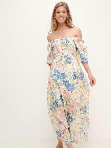 שמלת מקסי בהדפס פרחים עם כפתורים של BILLABONG