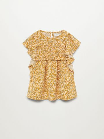 חולצת בהדפס פרחים עם מלמלה / 9M-5Y של MANGO