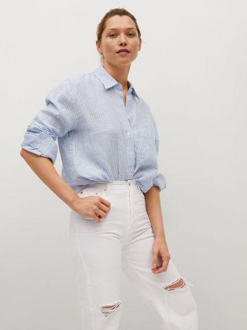 ג'ינס מתרחב עם קרעים של MANGO