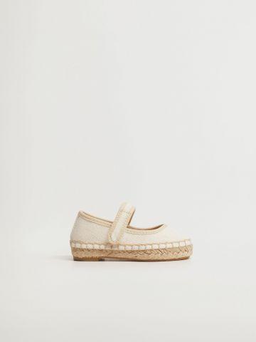 נעלי בובה פשתן עם טקסטורת קליעה / בייבי בנות של MANGO