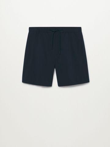 מכנסי ברמודה קצרים עם גומי במותן / גברים של MANGO