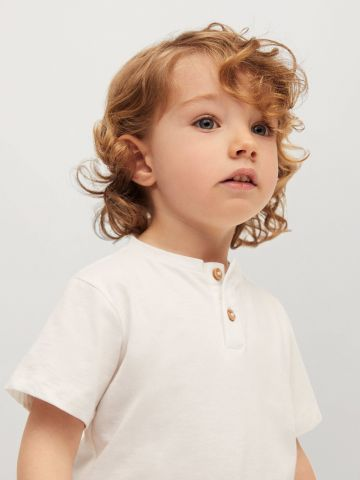 חולצה בשילוב כפתורים / 9M-4Y של MANGO