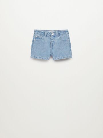 ג'ינס קצר בשטיפה בהירה / 9M-4Y של MANGO