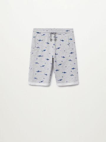 מכנס ברמודה בהדפס כרישים / בנים של MANGO