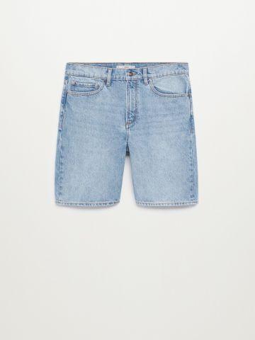 חולצת ג'ינס מכופתרת עם כיס של MANGO