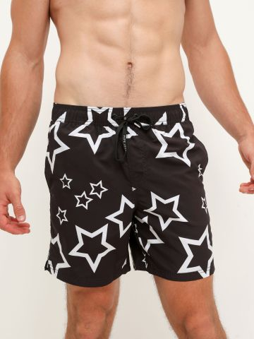 מכנסי בגד ים בהדפס כוכבים של PEPE JEANS