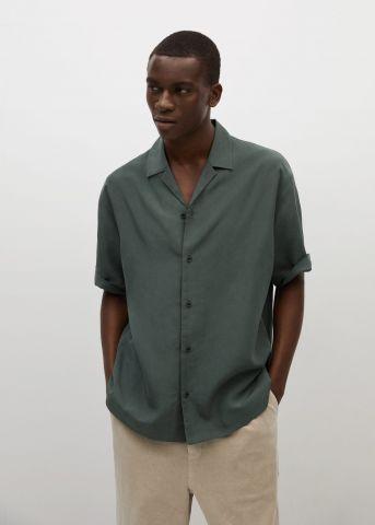 חולצה מכופתרת חלקה של MANGO