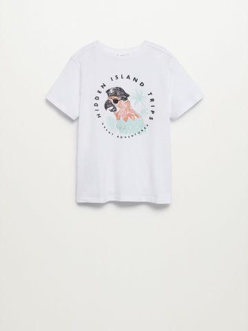 חולצת בייסיק עם הדפס / בנים של MANGO