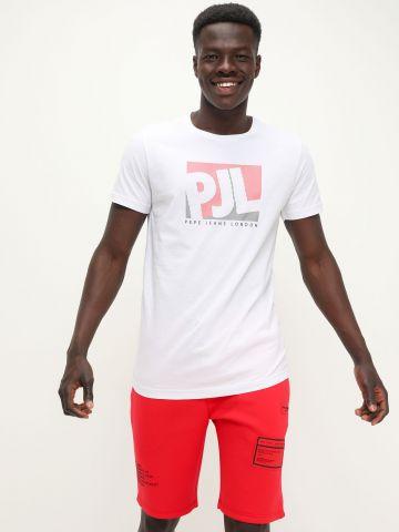 מכנסי טרנינג קצרים עם הדפס לוגו של PEPE JEANS