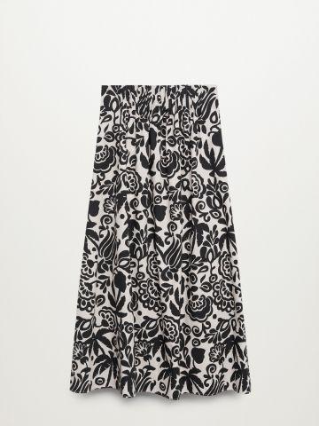 חצאית מידי בהדפס פרחים / נשים של MANGO