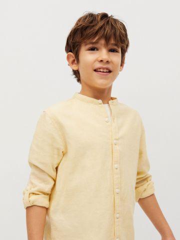 חולצה מכופתרת עם צווארון / בנים של MANGO
