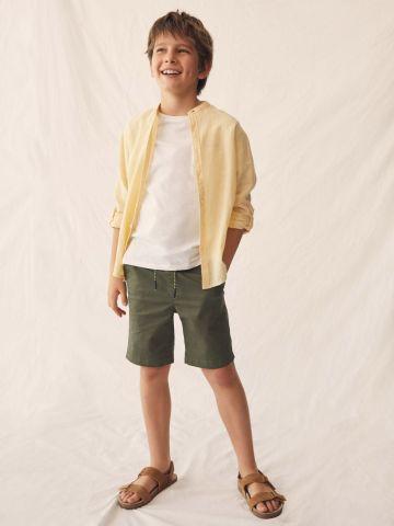 מכנסי ברמודה עם גומי של MANGO