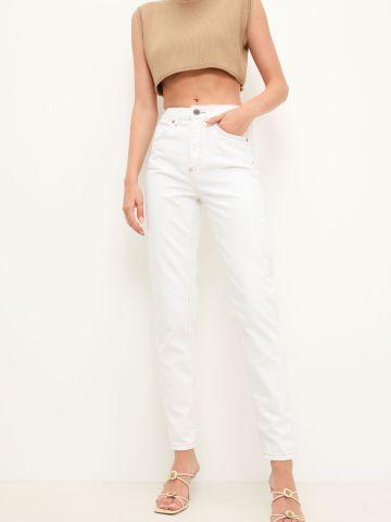 ג'ינס MOM תיפורים מודגשים של URBAN OUTFITTERS