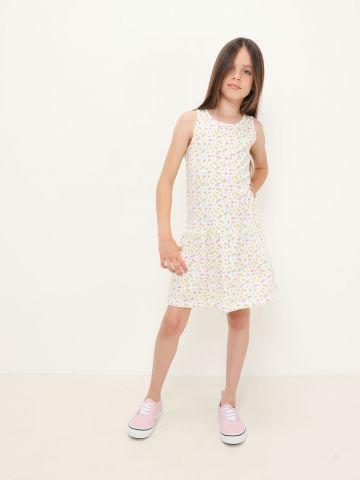 שמלה בהדפס סיומת פפלום של FOX