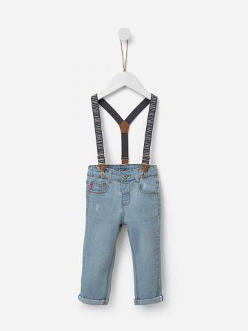 ג'ינס סקיני בשטיפה בהירה עם שלייקס / 0-5Y של SHILAV