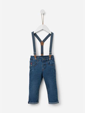 ג'ינס סקיני בשטיפה כהה עם שלייקס / 0-5Y של SHILAV
