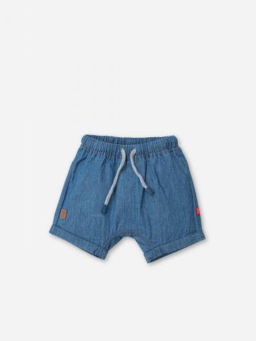 ג'ינס קצר עם לוגו / 0-24M של SHILAV