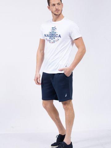 מכנסי טרנינג קצרים עם לוגו של NAUTICA