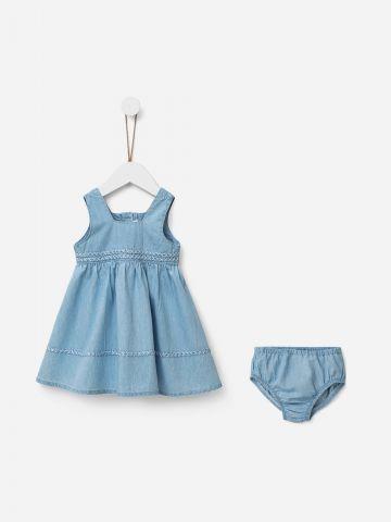 סט שמלה ותחתוני ג'ינס / 0-5Y של SHILAV