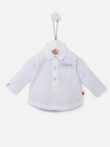 חולצת מכופתרת עם כיס / 0-18M של SHILAV