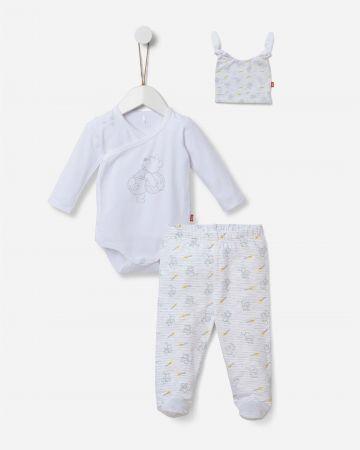 סט בגד גוף מעטפת, מכנסיים עם רגליות וכובע / N.B-6M של SHILAV