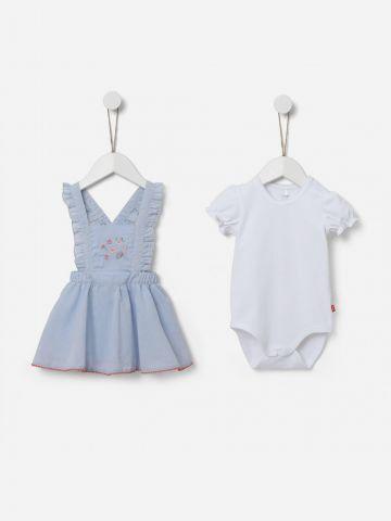 סט שמלה ואוברול קצרים / 0-24M של SHILAV
