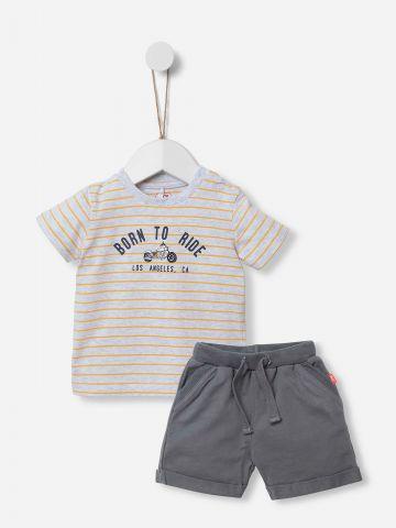 סט חולצה ומכנסיים קצרים / 0-18M של SHILAV