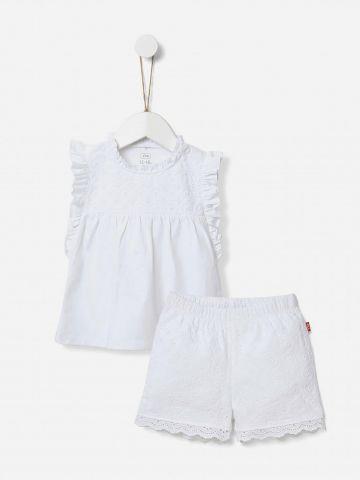 סט מכנסיים וטוניקה קצרים / 0-24M של SHILAV