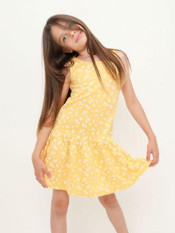 שמלה בהדפס בסיומת פפלום של FOX