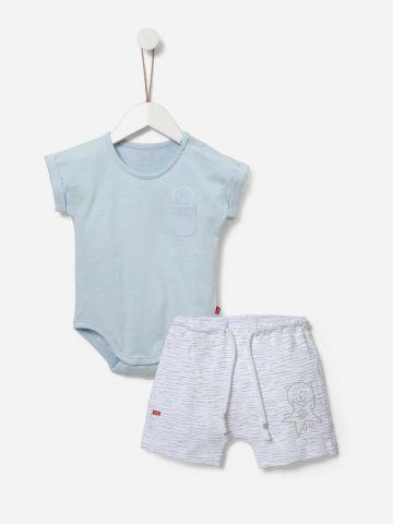 סט מכנסיים ובגד גוף בהדפס של SHILAV