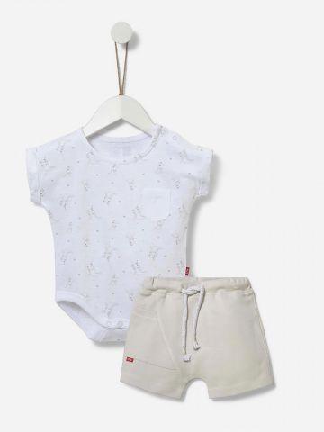 סט בגד גוף ומכנסיים קצרים / 0-24M של SHILAV