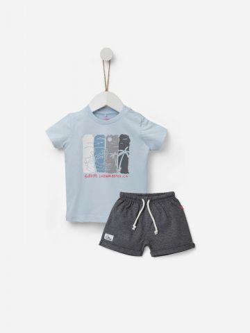 סט חולצה ומכנסיים קצרים / 3M-5Y של SHILAV